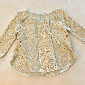 BNWOT 3/4 sleeve lace top